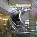 Un escalator... qui forme une courbe!
