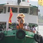 On est arrivé tout juste pour le départ du lion...