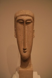 ...ou une sculpture de Modigliani