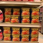 SPAM, SPAM, SPAM, SPAM, une espèce de pâté de jambon ou quelque chose comme ça; oui, ça existe vraiment... et maintenant, vous savez pourquoi on appelle un courriel indésirable de la sorte ;-)